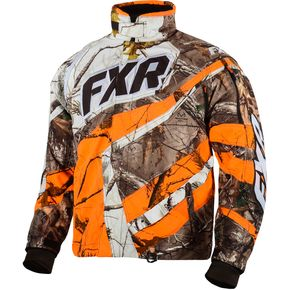 FXR Racing Real Tree/AP Blaze Orange Cold Cross Jacket - 15116.33316