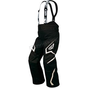 FXR Racing Youth Black/White Helix Pants - 15312.10116