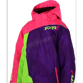FXR Racing Childs Fuchsia/Purple/Lime Vertical Jacket - 15307.90002