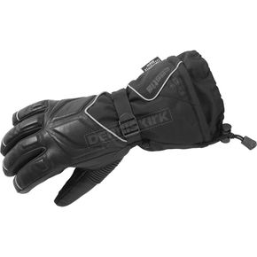 Castle X Black Leather/Textile TRS Gloves - 74-4072
