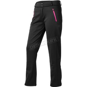 Womens Black Fusion Mid-Layer Bottoms