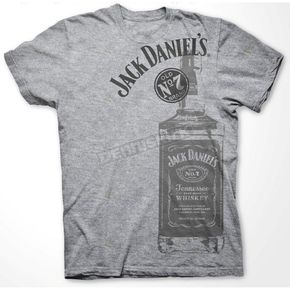 Jack Daniels Gray Large Bottle T-Shirt - 33261440JD-79-XX