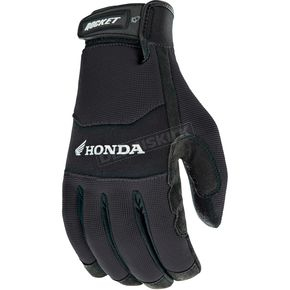 Joe Rocket Black Honda Crew Touch Gloves - 1304-1002