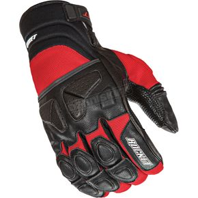 Joe Rocket Black/Red Atomic X Gloves - 1346-2102