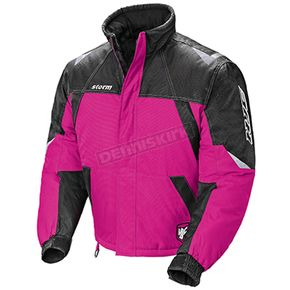 HJC Womens Pink/Black/Silver Storm Snowmobile Jacket  - 1407-082