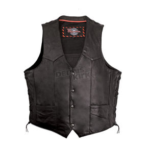 Milwaukee Motorcycle Clothing Co. Black Classic Vest - M3620XL