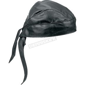 Milwaukee Motorcycle Clothing Co. Black Leather Headwrap - I0100