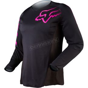 Fox Womens Black/Pink Blackout Jersey - 12337-285-2X