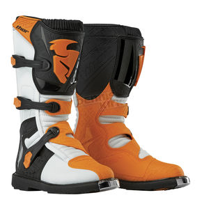 Thor White/Orange Blitz CE Boots - 3410-1452