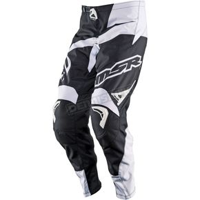 MSR Racing Black/White Axxis Pants - 352199