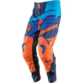 MSR Racing Youth Blue/Orange Axxis Pants - 352265