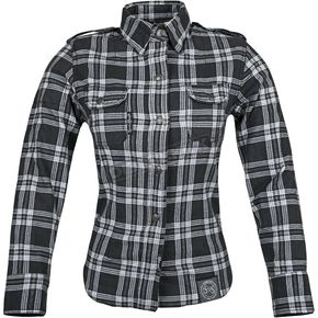 Speed and Strength Womens Black/Gray Smokin Aces Reinforoced Moto Shirt - 87-8459