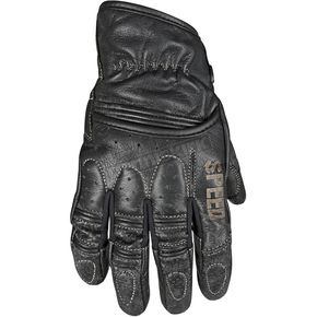 Speed and Strength Distressed Black Rust and Redemption Leather Gloves - 87-8616