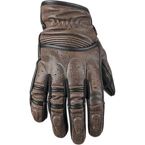 Speed and Strength Distressed Brown Rust and Redemption Leather Gloves - 87-8624