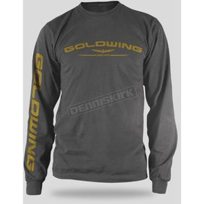 Honda Charcoal Goldwing Long Sleeve T-Shirt - 54-7169