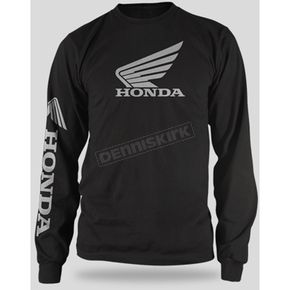 Honda Black Honda Wing Long Sleeve T-Shirt - 54-7181