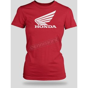 Honda Womens Red Big Wing T-Shirt - 54-7257