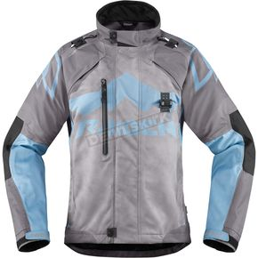 Icon - Raiden Womens Charcoal/Blue DKR Jacket - 2822-0779