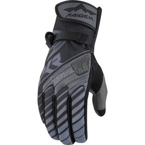 Icon - Raiden Black/Gray DKR Gloves - 3301-2467