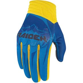 Icon - Raiden Turquoise/Yellow Arakis Gloves - 3301-2517