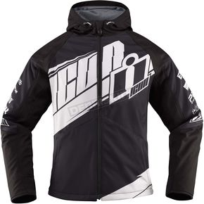 Icon Womens Black/White Team Merc™ Jacket - 2822-0788