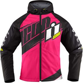 Icon Womens Pink/Black Team Merc Jacket - 2822-0792
