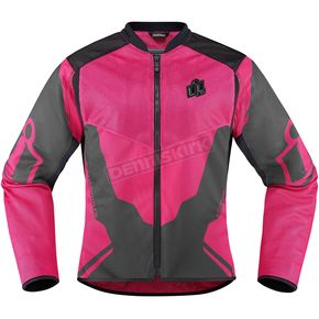 Icon Womens Pink/Gray Anthem 2 Jacket - 2822-0804