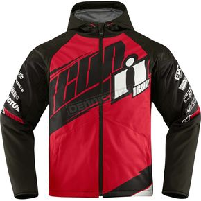 Icon Red/Black Team Merc Jacket - 2820-3344