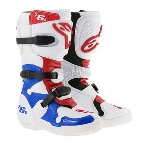 Alpinestars Youth White/Red/Blue Tech 6S Boots - 201506-273-5