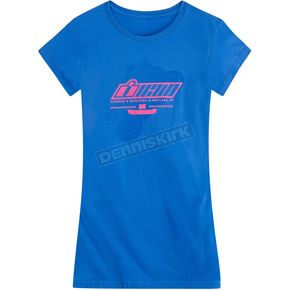 Icon Womens Royal Blue Stant Up T-Shirt - 3031-2375