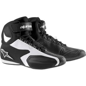 Alpinestars Black/White Faster Shoes - 2510214128