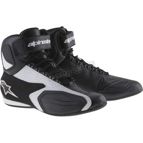 Alpinestars Black/White Faster Vented Shoes - 2510314127