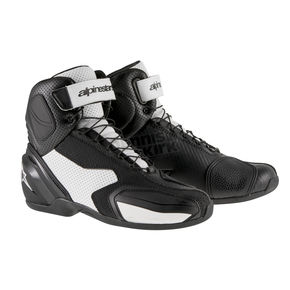 Alpinestars Black/White SP-1 Vented Shoes - 2511315-12-45