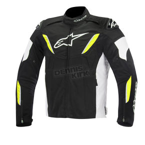 Alpinestars Black/White/Yellow Fluorescent T-GP R Waterproof Jacket - 3205515-125-S