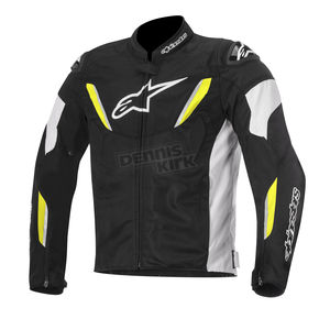 Alpinestars Black/White/Yellow Fluorescent T-GP R Air Jacket - 3305616-125-L
