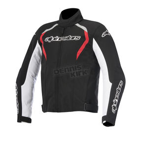Alpinestars Black/White/Red Fastback Waterproof Jacket - 3200015-123-4XL