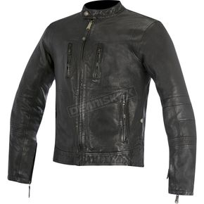 Alpinestars Black Brass Leather Jacket - 3108515-10-S