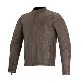 Alpinestars Brown Monty Leather Jacket - 3108915-80-3XL