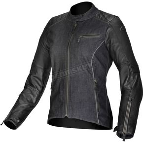 Womens Black Renee Textile/Leather Jacket - 3318013-10-38