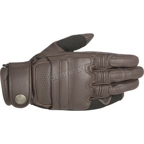 Alpinestars Tobacco Brown Robinson Leather Gloves - 3508515-810-2X