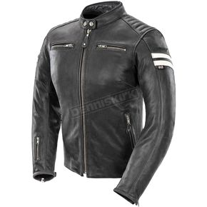 Joe Rocket Womens Black/White Classic '92 Leather Jacket - 1436-1001