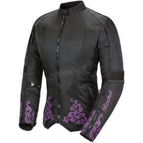 Joe Rocket Womens Black/Purple Heartbreaker 3.0 Textile Jacket - 1512-5802
