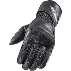 Joe Rocket Black Pro Street Leather Gloves - 1520-1007