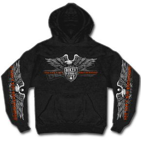 Hot Leathers Black Brotherhood Eagle Hoody - GMS4295XXXL