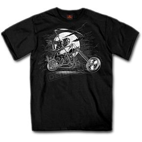 Hot Leathers Black Reaper Rider T-Shirt - GMS1296XXL