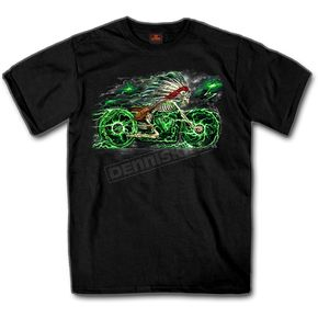 Hot Leathers Black Skeleton Cycle T-Shirt - GMS1300M