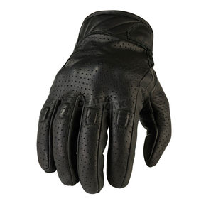 Z1R Black 270 Perforated Leather Gloves - 3301-2602