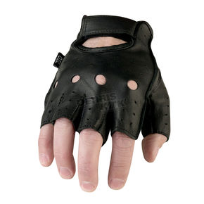 Z1R Black 243 Half Leather Gloves - 3301-2621