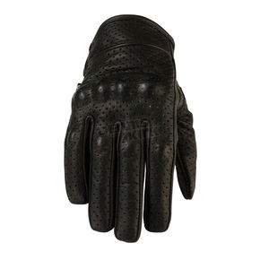 Z1R Womens Black 270 Perforated Leather Gloves - 3302-0460