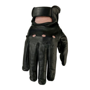 Z1R Womens Black 243 Leather Gloves - 3302-0475